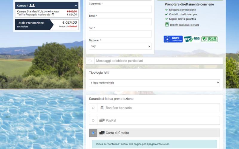 metodi pagamento hotel gestionale